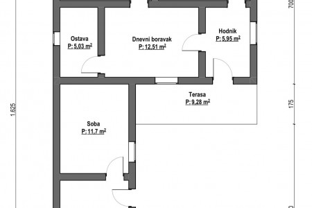 Belišće, starija obiteljska kuća na odličnoj lokaciji, površine 82,22 m2
