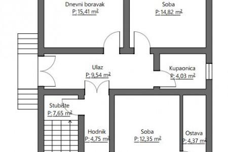 Belišće, kuća katnica, Starovalpovački put, 211,22 m2