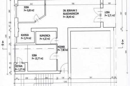 Valpovo, trosoban stan, centar, 75,69 m2