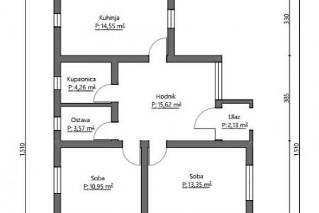 Belišće, kuća u ulici Dolac, 107,96 m2
