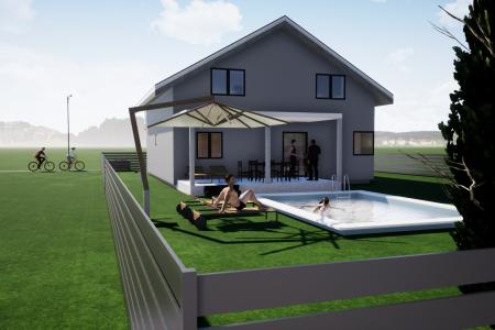 Obiteljska kuća s bazenom, Darda